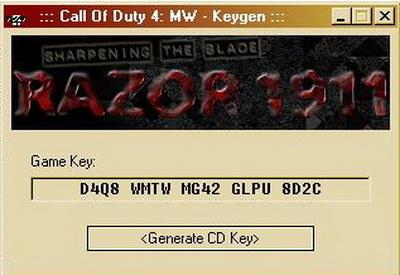 Лицензионные ключи CoD4 бесплатно - Каталог файлов - Официальный сайт